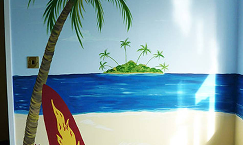 Beach and Surf - Mural