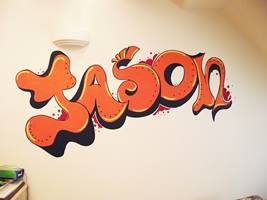 Graffitti Name - Mural