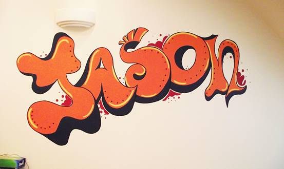 Graffiti Name Mural