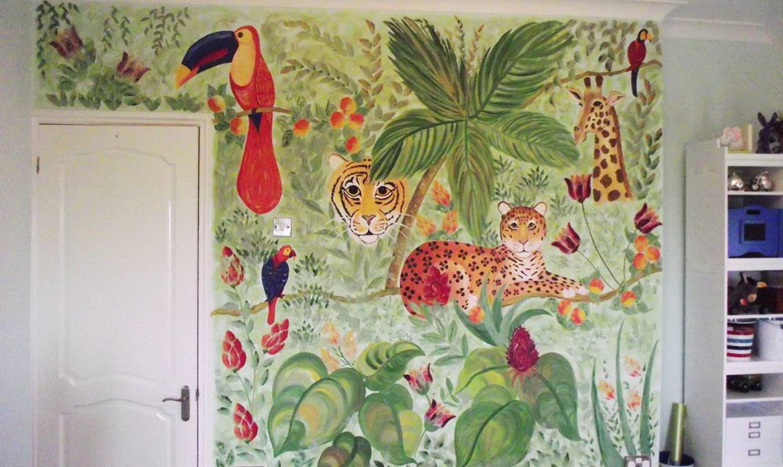 Hand-Painted Home Décor; Living Space Murals