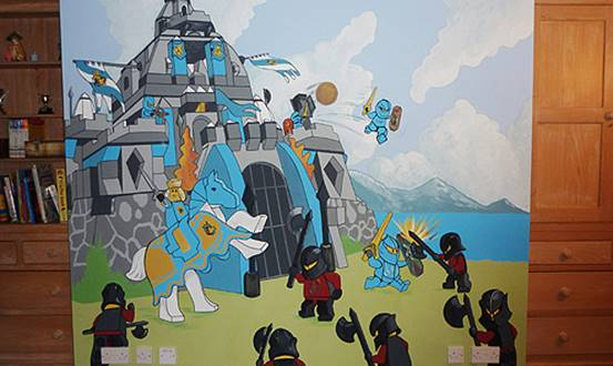 Lego Castle And Soldiers Mural