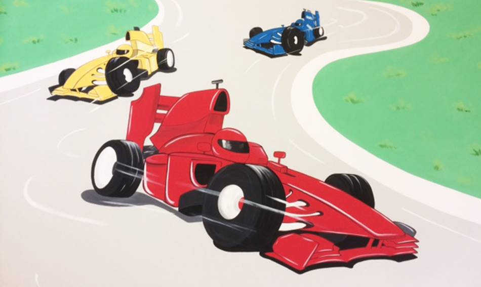 Racing Cars Wall - Mural