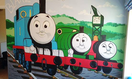 Thomas The Tank Engine Mural