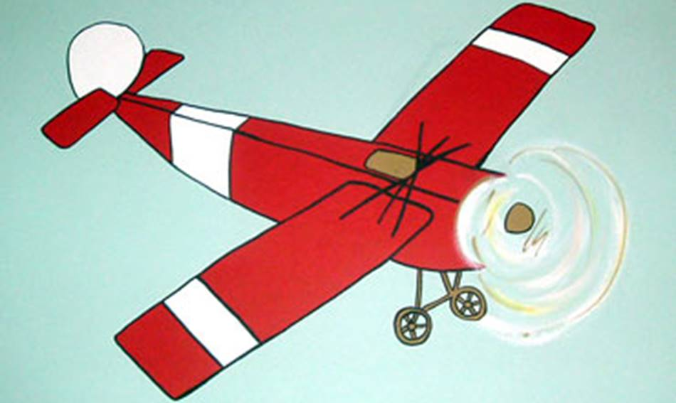 Red Plane - Mural