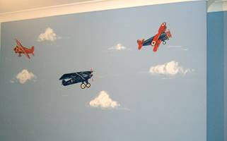 Three Aeroplanes - Mural