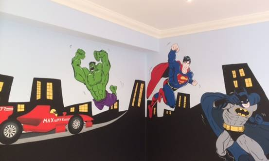 Marvel Superheros Mural