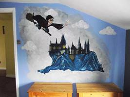 Harry Potter Hogwarts Castle - Mural