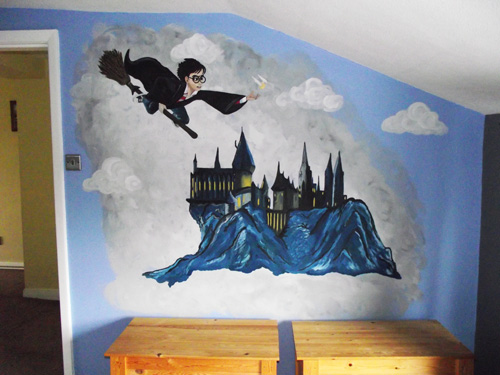 Harry Potter Hogwarts Castle   Mural Part 68