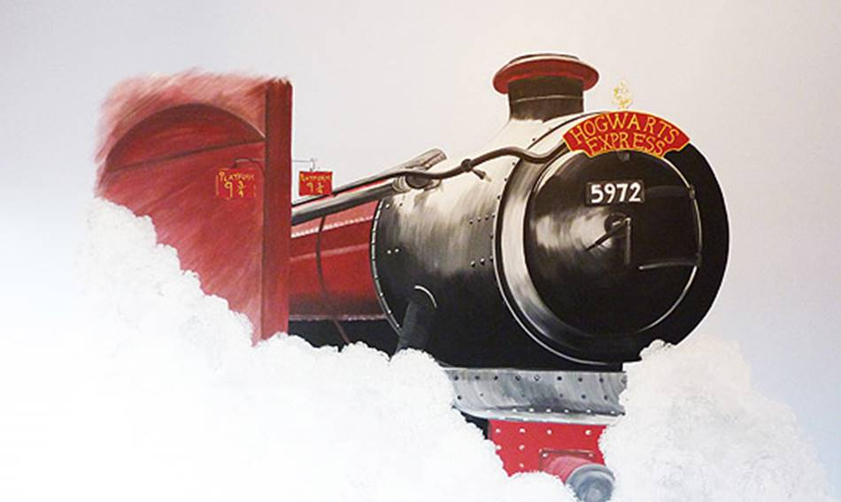 Harry Potter Hogwarts Train Mural