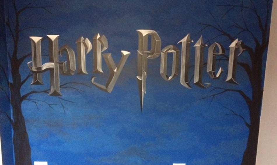 Harry Potter Logo Mural