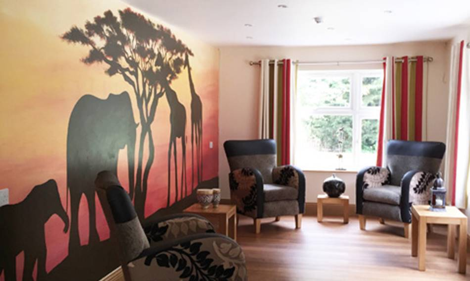 African sunset mural for African sunset wall mural