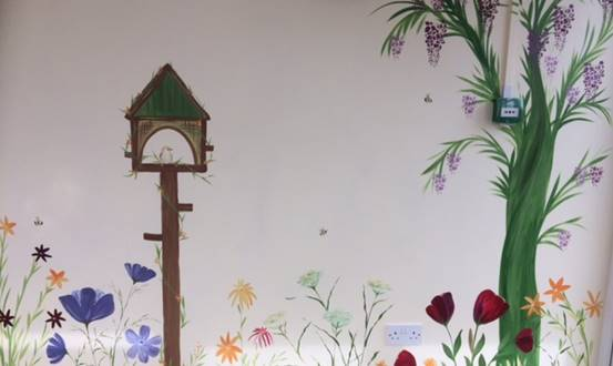 Haulfryn Care Home, Garden Mural
