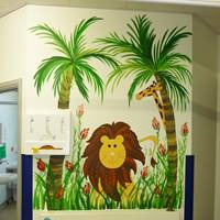 Leighton Hospital Jungle Mural
