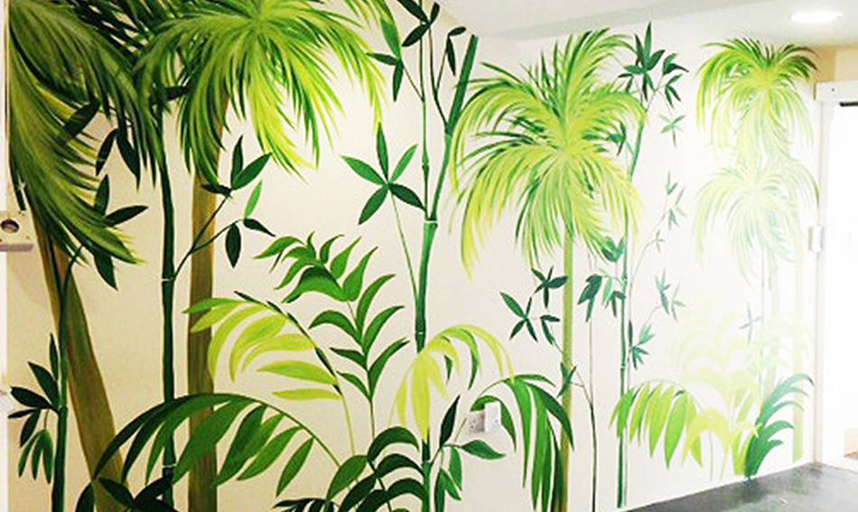 Palm Trees Mural
