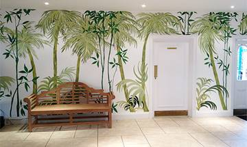 Bamboo and Palm Wall Mural