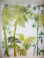 Close Up Palm Tree Mural