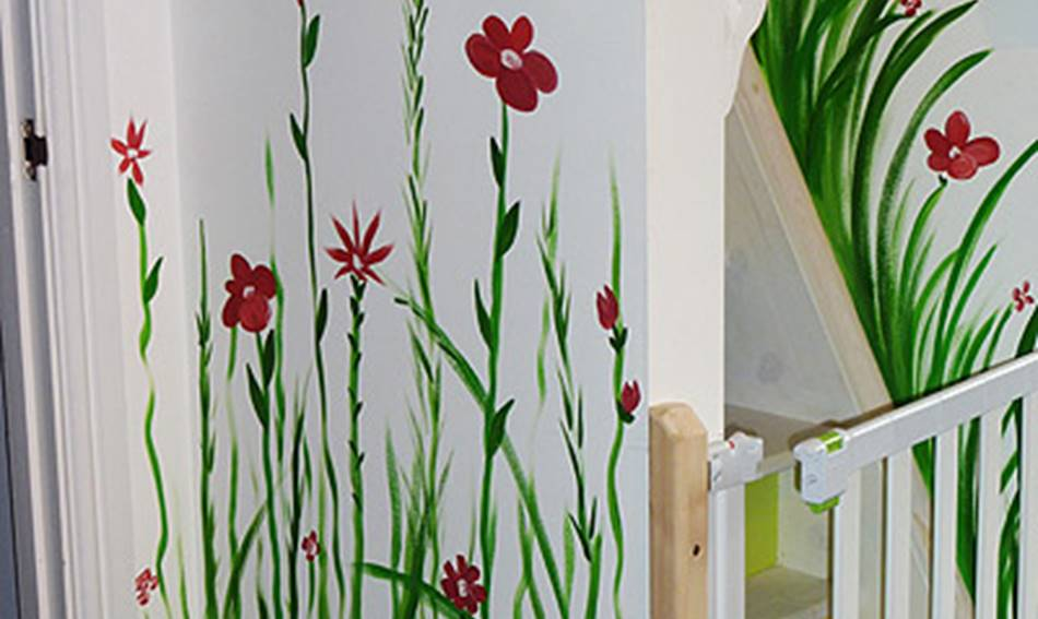 Flower Day Nursery Mural