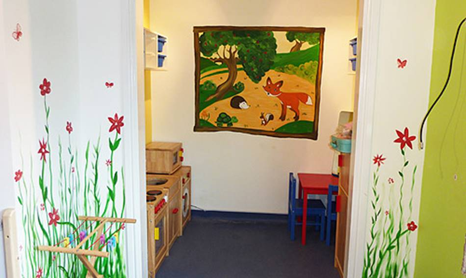 Flower Fun Day Nursery Mural