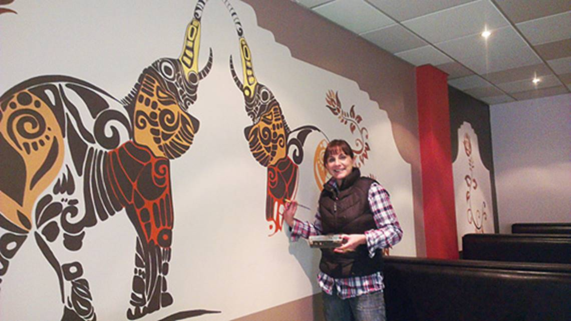Indian Elephant Wall Mural