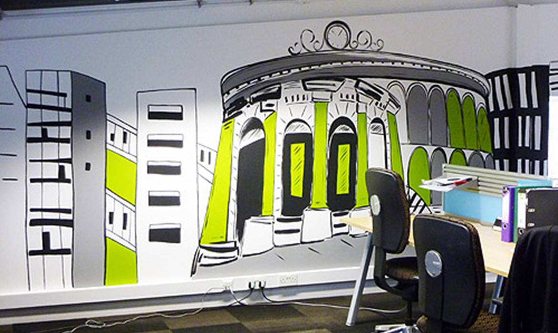 How murals improve the working environment