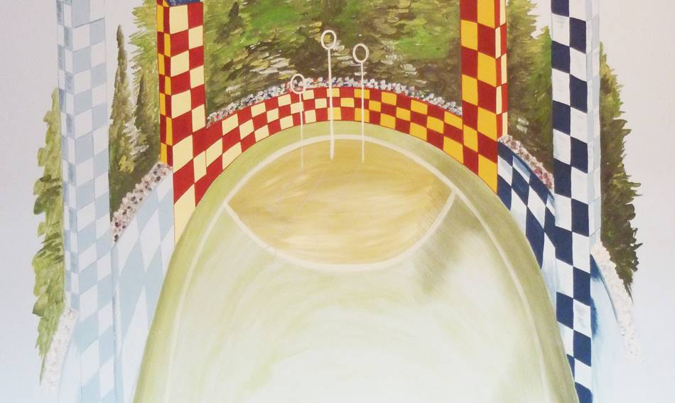 Harry Potter Quidditch Pitch Mural