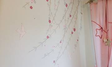 Flowing Blossom Mural