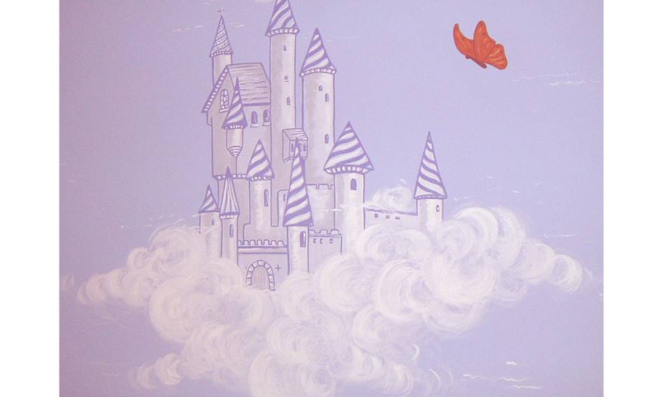 Castle Cloud Wall - Mural