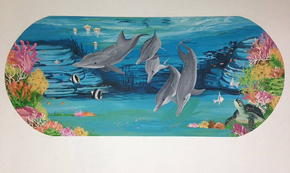 Dolphin Wall - Mural