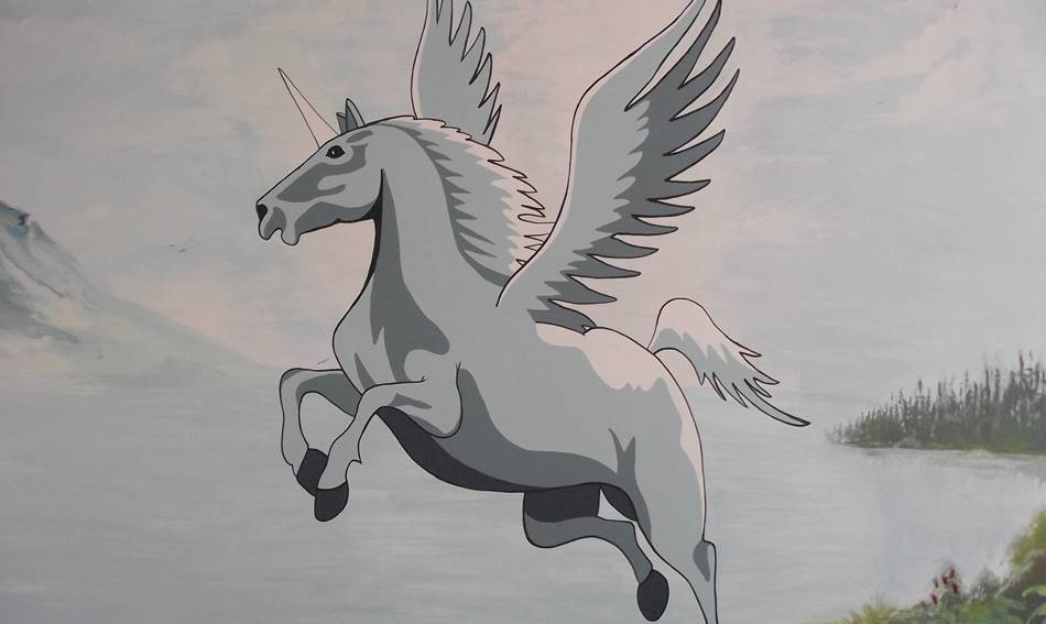 Flying Unicorn - Mural