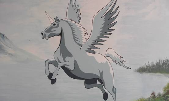Flying Unicorn Mural