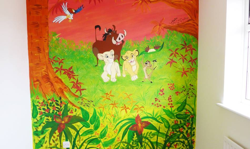 Lion King Wall - Mural (2)