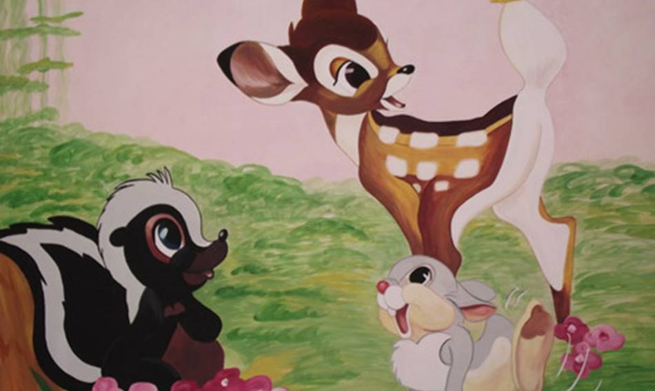 Bambi And Friends - Mural