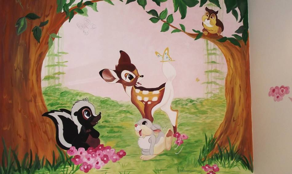 Bambi Thumper and Friends - Mural (1)