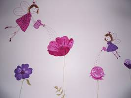 Fairies Flowers Wall Mural