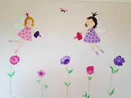 Flying Fairies Flower Mural