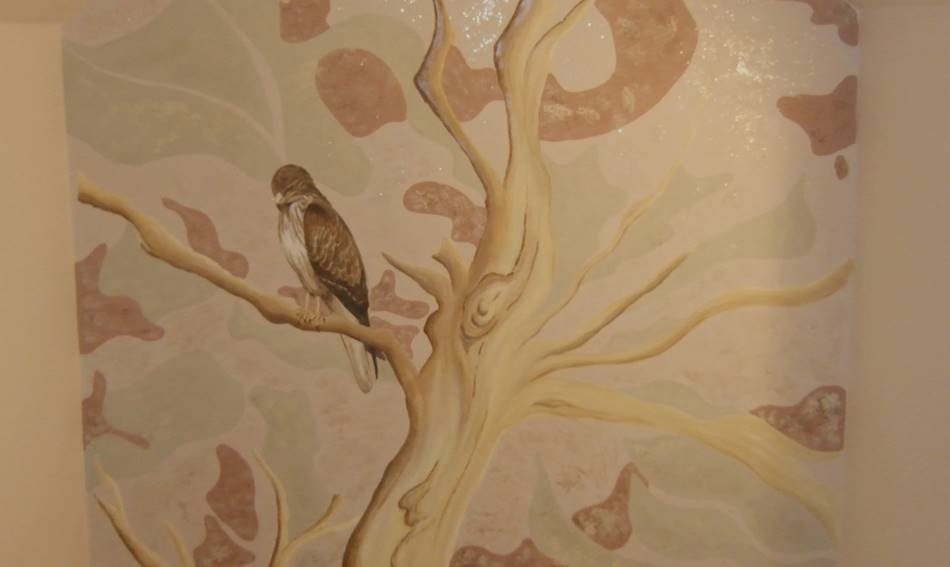 Buzzard And Tree Mural