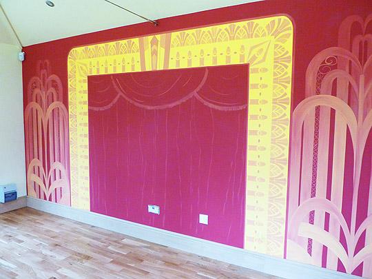 Art Deco Theatre Front Mural