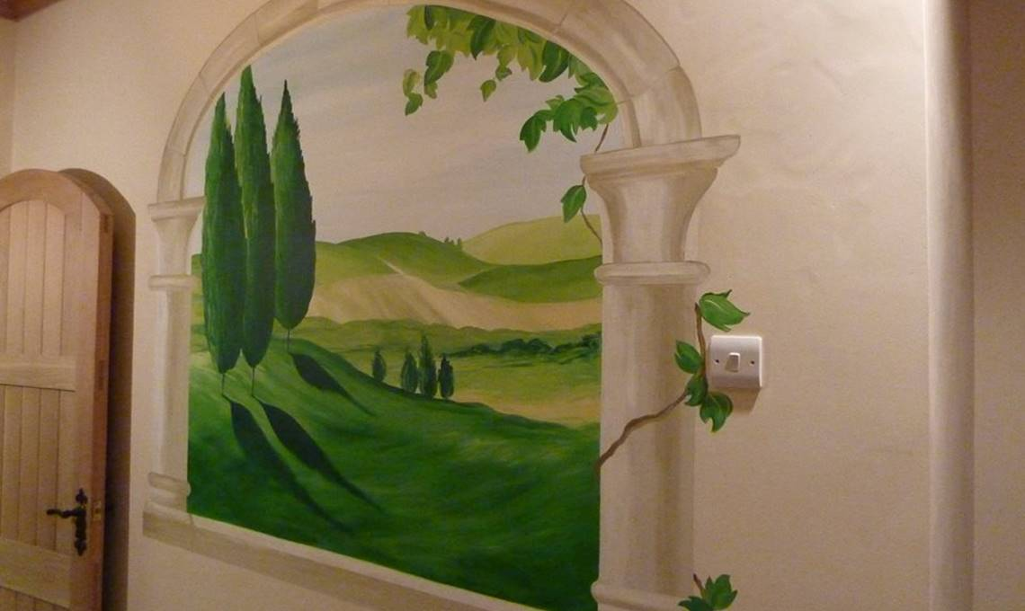 Beautiful Painted Window Murals by a UK Mural Painter