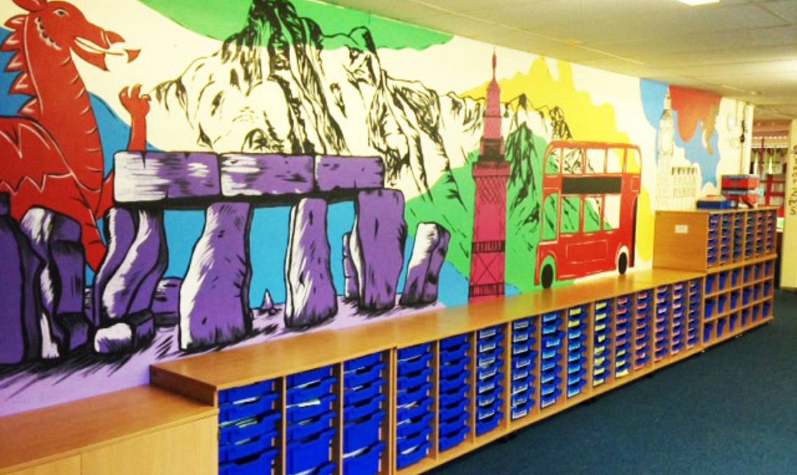 Encourage and inspire learning with mural art for schools