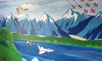 Aeroplanes Jets & Red Arrows Mural
