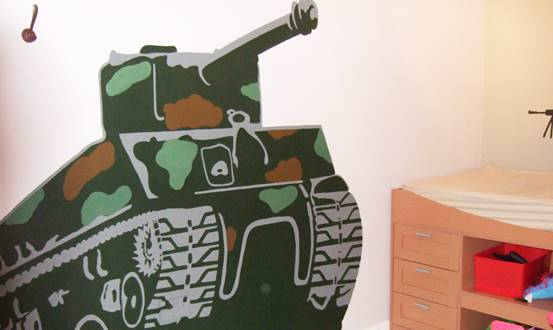 Army Tank & Soldier Wall Mural