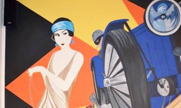 Art Deco Wall Mural