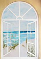 Beach Scene Window Mural