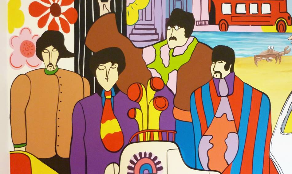 Beatles Wall Mural