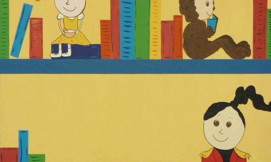 Close Up Book Case Mural