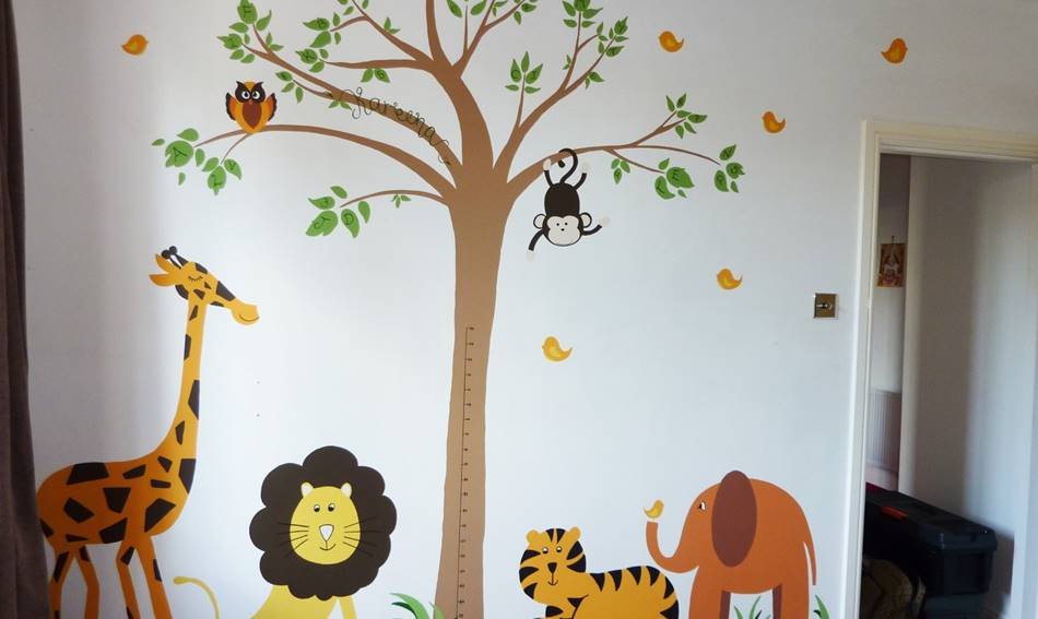 Cute Jungle Mural