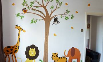Cute Jungle Animal Mural