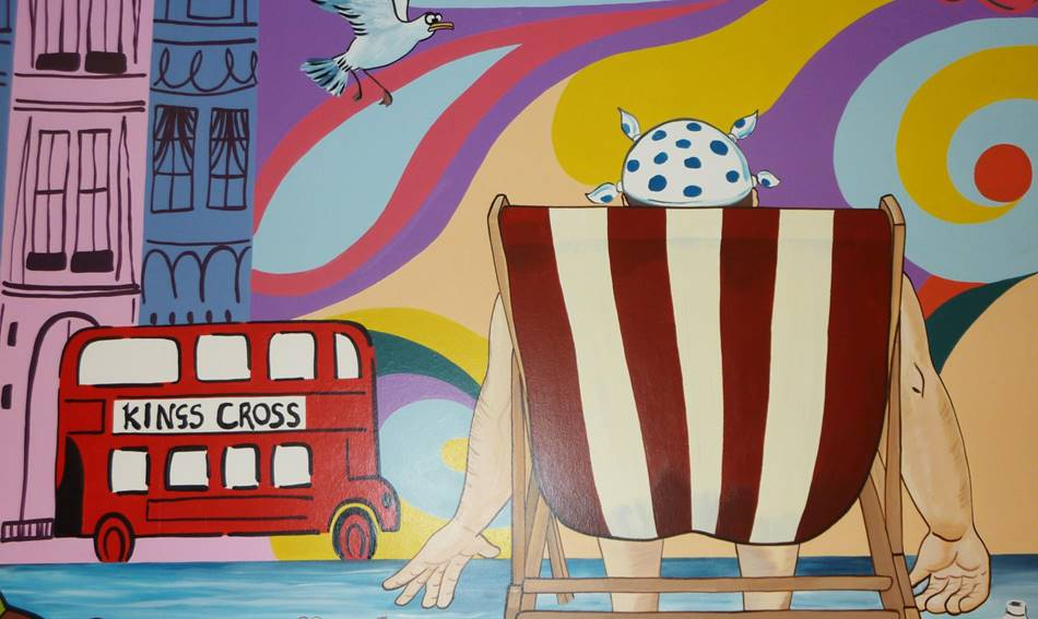 Deck Chair Wall Mural