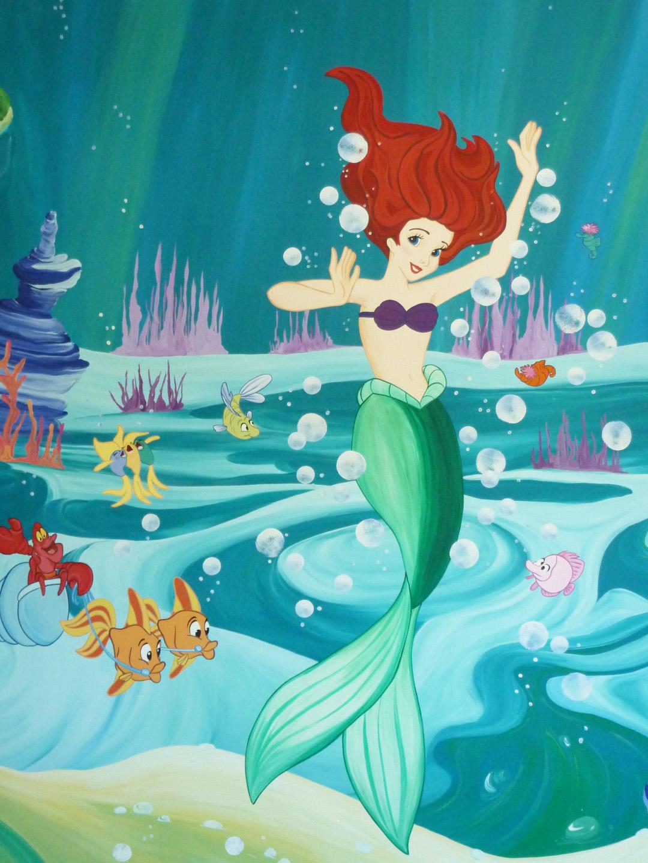 Disney Little Mermaid Mural