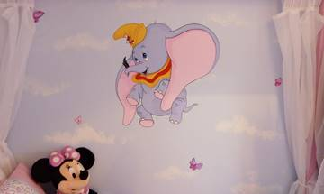Disney Dumbo & Cloud Mural
